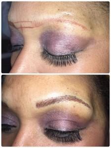 tattood eyebrow fix